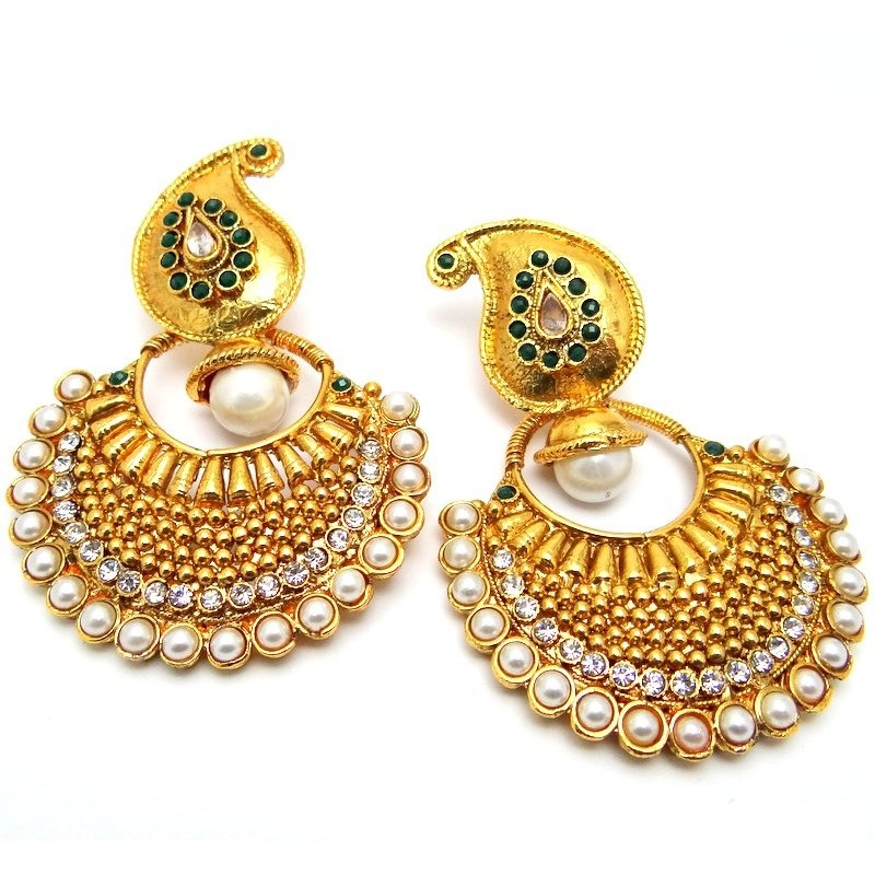 DESIGNER POLKI BALIS EARRINGS