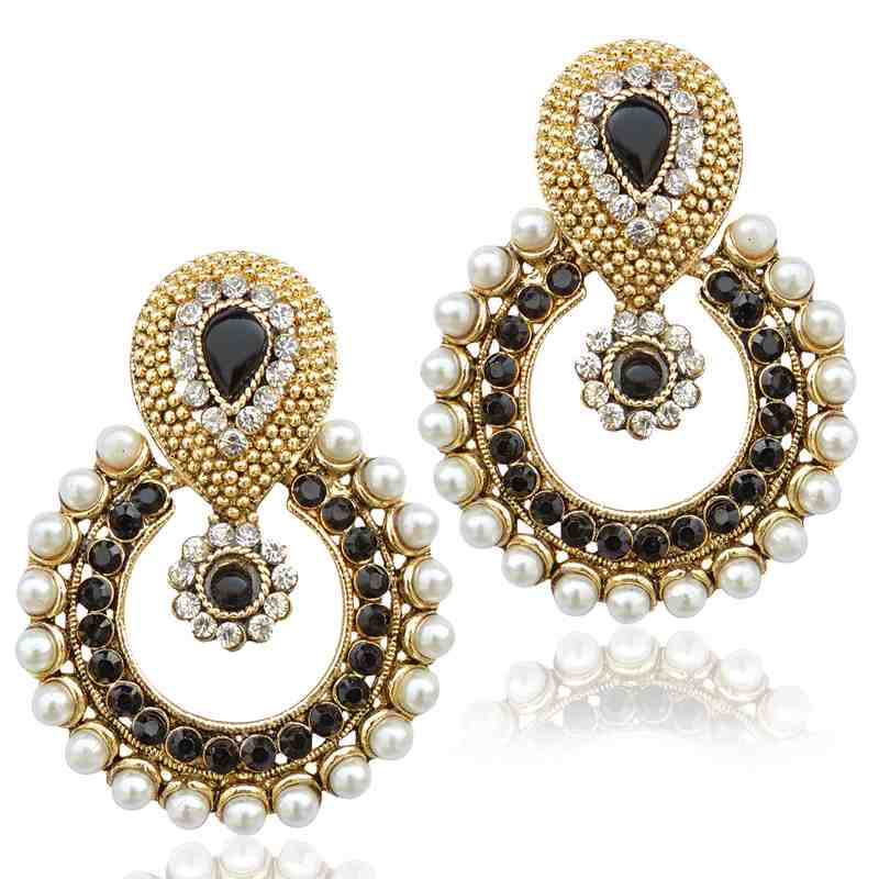 BOLLYWOOD POLKI EARRINGS