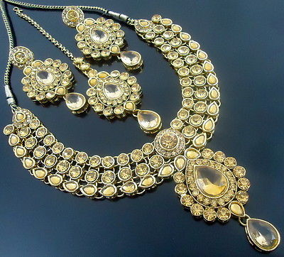 LCT GOLD TONE FESTIVE NECKLACE SET