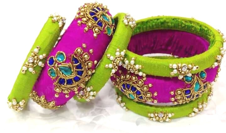 FABRIC & THREAD BANGLES