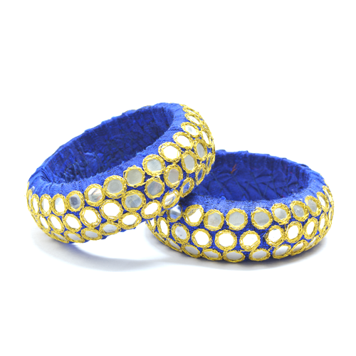 MIRROR WORK FABRIC BANGLES